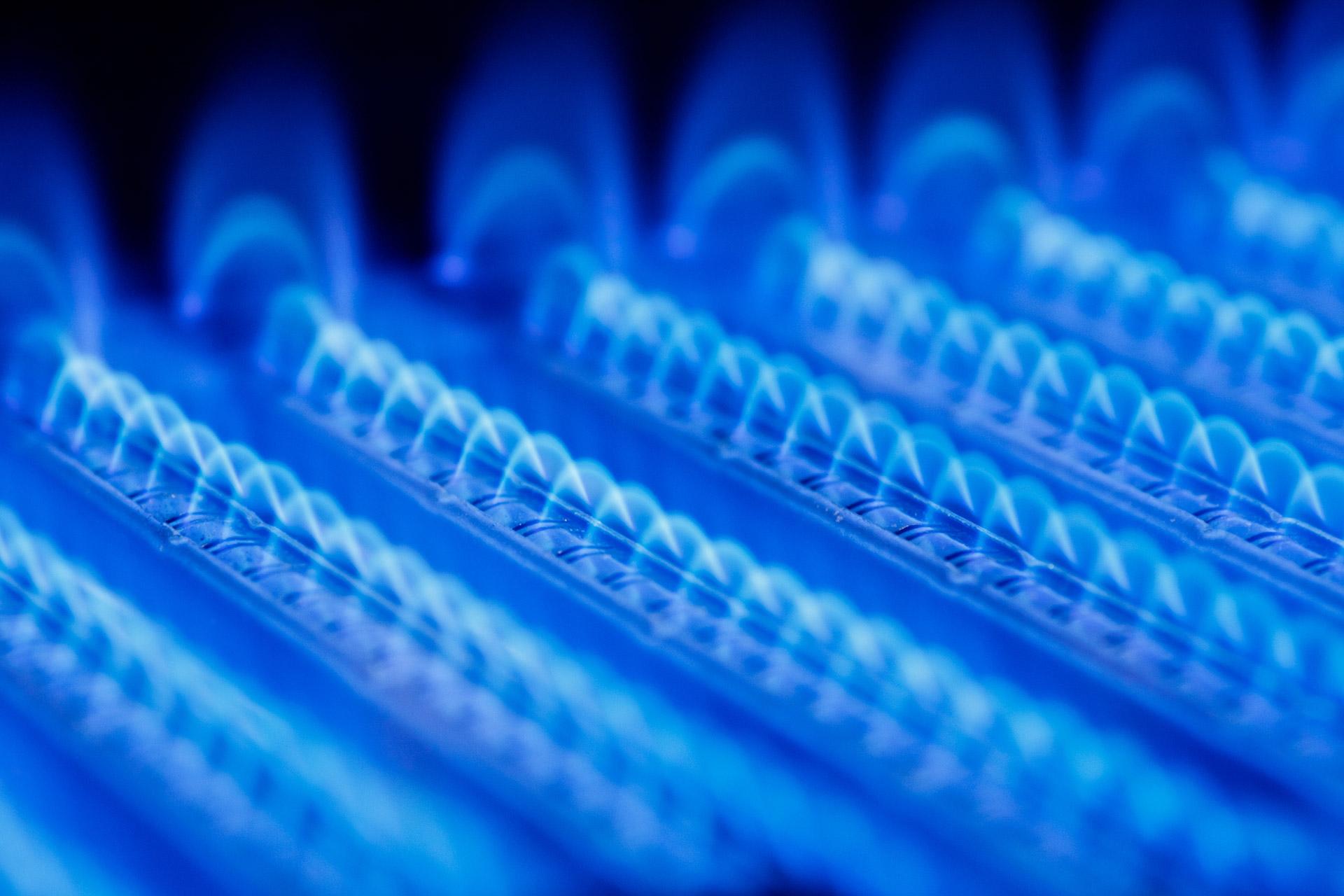 Gas Burners emit a blue flame